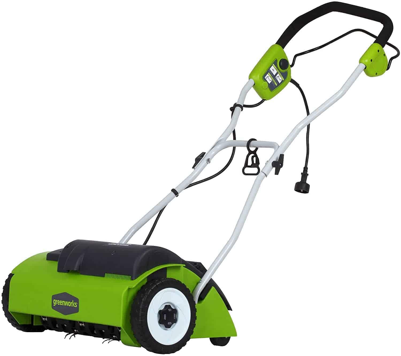 A lawn dethatcher
