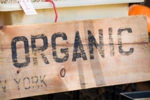 decorative image of organic sign