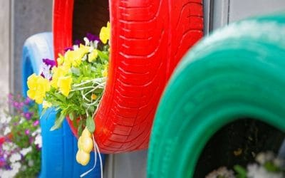How to Make Tire Planters Your Flowers Will Love