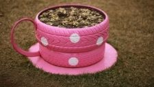 Tires made to look like tea cups